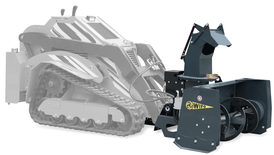 Wifo snow blower on Holt mini track loader